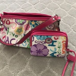 Coach Daisy Floral Purse and Wallet Set